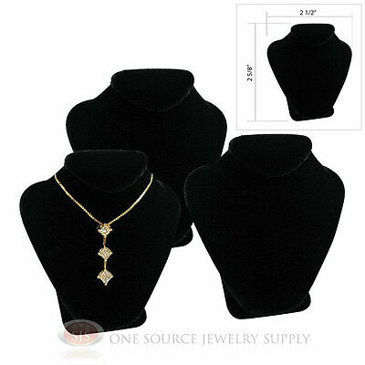 3 2 58 Pendant Necklace Black Velvet Mini Jewelry Bust Display Stand