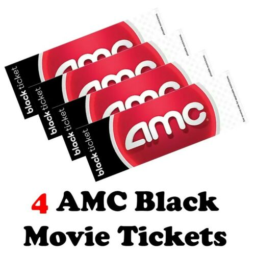 AMC Movie Theaters: 4 Black Tickets with PIN for E-ticket Advanced Reservations