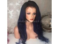 Coloured lace frontal wigs