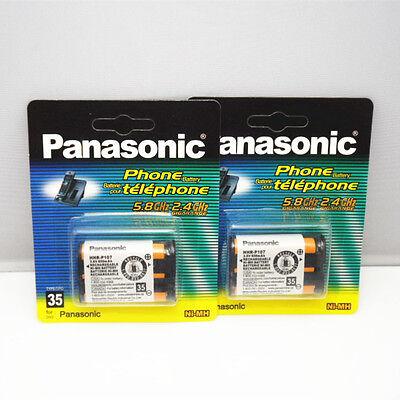 2PCS New HHR-P107 Ni-MH Rechargeable Battery 650mah for Panasonic Cordless Phone