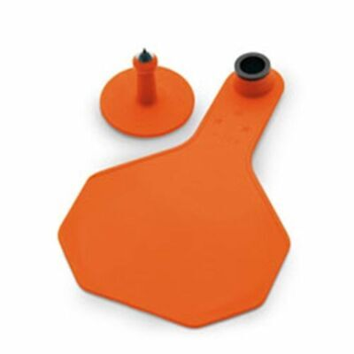 Y-tex 3 Star Medium Blank Cattle Ear Tags 25 Count Orange