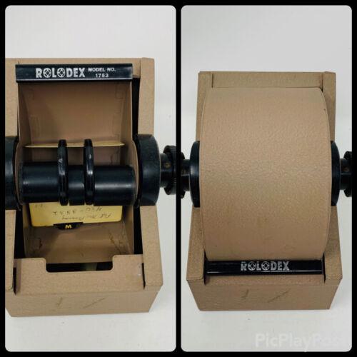 Vintage Rolodex Model #1753 Steel Metal Roll Top No Cards or Key