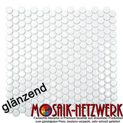 Keramik Mosaik Fächer elfenbein glänzend Wand Küche Dusche 13-FS09/_f 10Matten