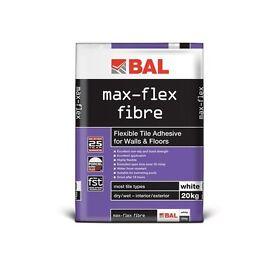 BAL Max Flex Fibre (Flexible Tile Adhesive for Walls & Floors) 20kg white