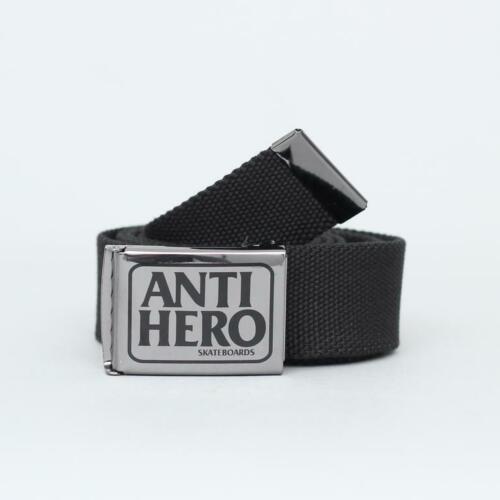 ANTIHERO Skateboards Reserve Logo Gun Metal / Black Web Belt