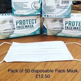 Anti dust disposable face mask