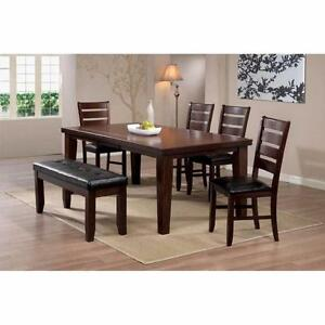 Table with 4 Chair and Bench -  BRAND NEW  --- Free Delivery !