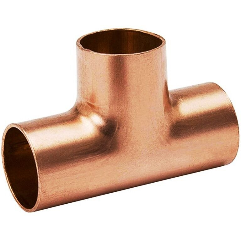 "(Bag of 5) 1 1/2"" Plumbing Copper Fitting Sweat Tee CxCxC"