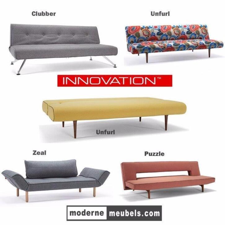 Slaapbanken Calia Alessio slaapbed bedbank Innovation stof !