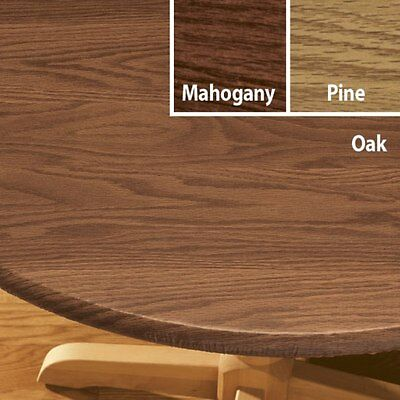 FITTED Vinyl Table Cover Wood Grain Round Oval/Oblong Backed also CHERRY - Fitted Table Covers