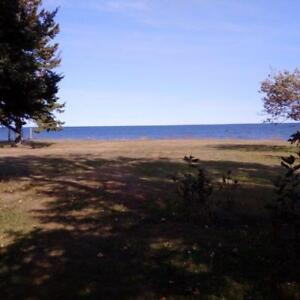 4 acres waterfront lot  Bay of Chaleur