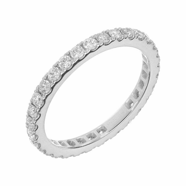 0.75ct Diamond Eternity Ring Platinum Size 6.5