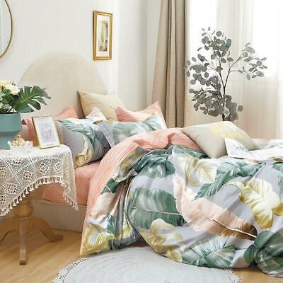 Satin Baumwolle 100% Bettwäsche 3tlg.180x200 Bettgarnitur Cotton World