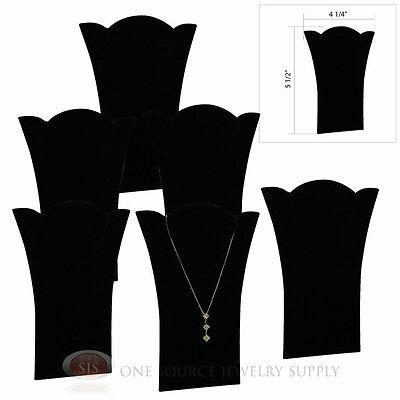 6 Black Velvet 5 12 Padded Pendant Necklace Display Easel Presentation