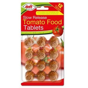Doff Garden Pot Slow Release Tomato Plant Feed Food Tablets Pack of 12 NEW