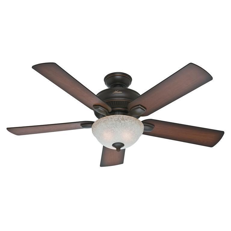 "Hunter Matheston 52"" Ceiling Fan Onyx Bengal 54092"