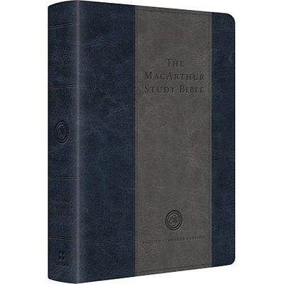 Esv Macarthur Study Bible  Personal Size  Trutone  Charcoal   Blue