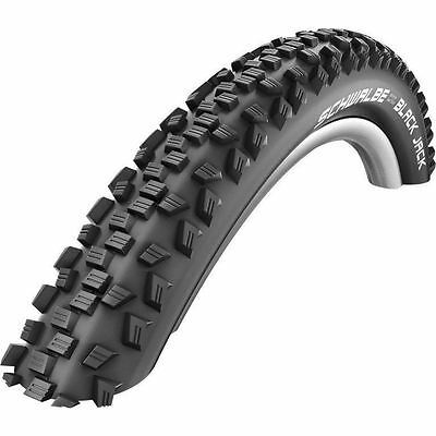 "26"" Off Road Schwalbe Black Jack MTB Knobbly Bike Tyre Pair Deals"