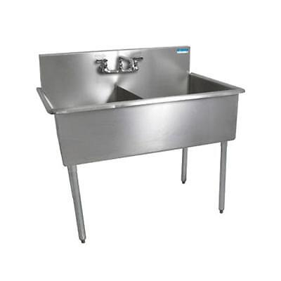 Bk Resources Bk8bs-2-18-12 2 Compartment Budget Sink 18 X 18 Stainless Steel