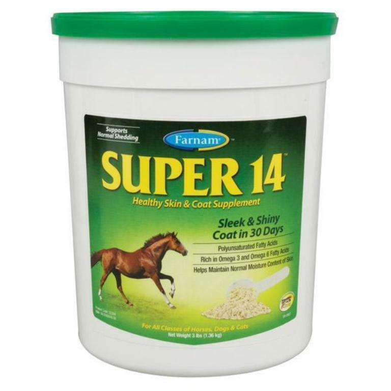 Super 14 Horse Equine Skin Shiny Coat Show 3 Pounds
