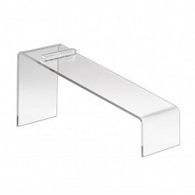 Clear Slanted Shoe Acrylic Riser Display Holder Stand 9l X 4w X 7h