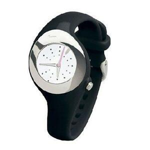 NIKE TIMING TRIAX SMOOTH WATCH LADIES WOMENS GIRLS FEMALE BLACK/WHITE SPORTS GYM
