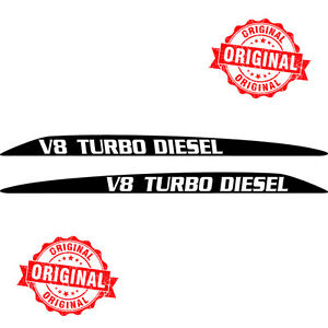 TOYOTA-LANDCRUISER-V8-TURBO-DIESEL-76-70-78-79-SERIES-BONNET-HOOD-STICKERS-DECAL