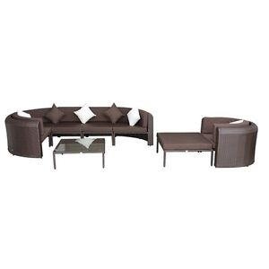 Brown 8pc Outdoor Rattan Sectional Patio Set / Sectional Patio