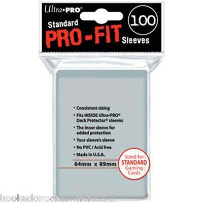 100 Ultra Pro Gaming Card Sleeves Pro-Fit -  MTG Standard Size