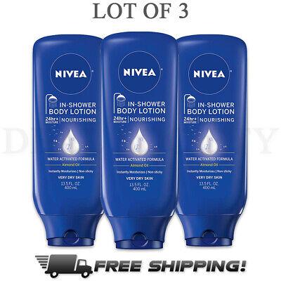 Nivea Nourishing In-Shower Body Lotion For Dry Skin 13.5 fl oz - 3 Pack Dry Skin Lotion