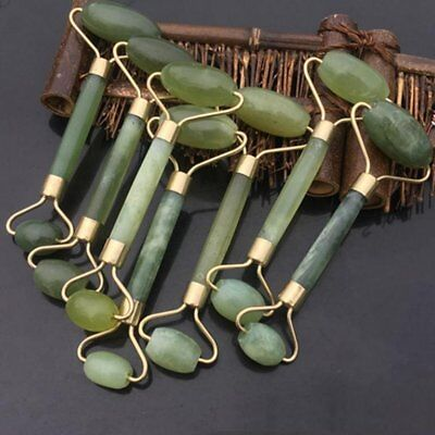 - Natural Jade Stone Face Massager Roller Spa Head Neck Body Facial Beauty Tool