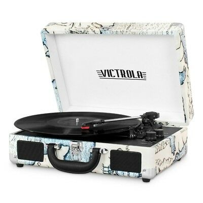 Bluetooth Suitcase Record Player Victrola 3-Speed Turntable Play Listening Music