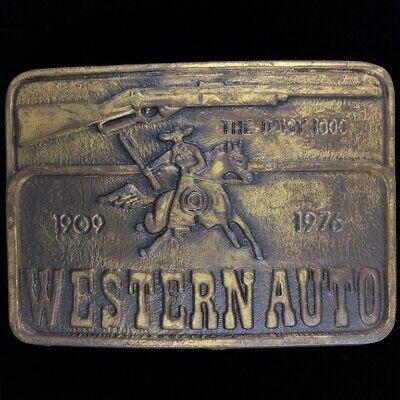 Used, Daisy BB Gun Model 1000 Western Auto Air Rifle Western 70s Vintage Belt Buckle for sale  Shipping to Canada