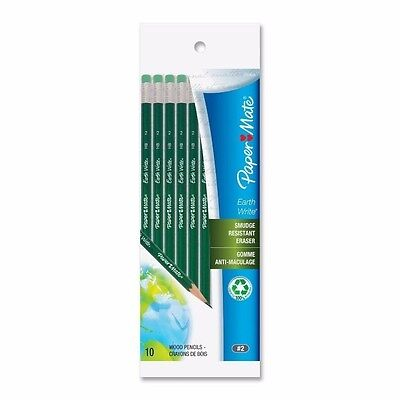 PAPER-MATE EARTH WHITE 100/% #2 PENCILS 10 PENCILS M0634-4AZP3-WH08