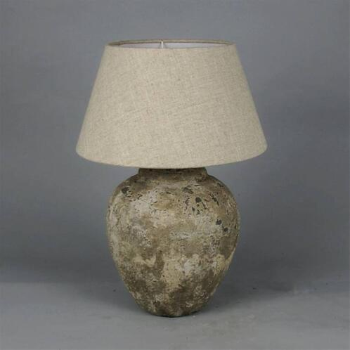 Twee stenen landelijke kruik lampen ook in groot formaat for Landelijke lampen