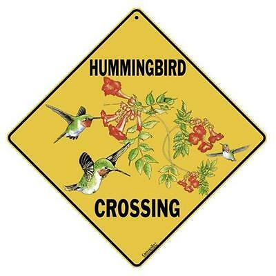 Hummingbird Crossing Sign NEW 12 x 12  Bird