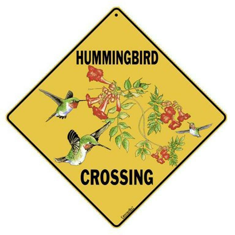 Hummingbird Crossing Sign NEW 12 x 12  Bird