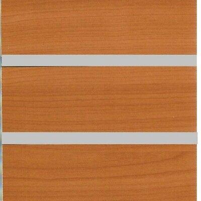 48 X 96 Slatwall Mdf Panel 3 Groove With Aluminum Insert Pear Wood Melamine