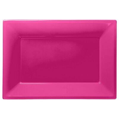 Pink Plastik Servierplatten Tablett Party Buffet Essen Feier Hochzeit
