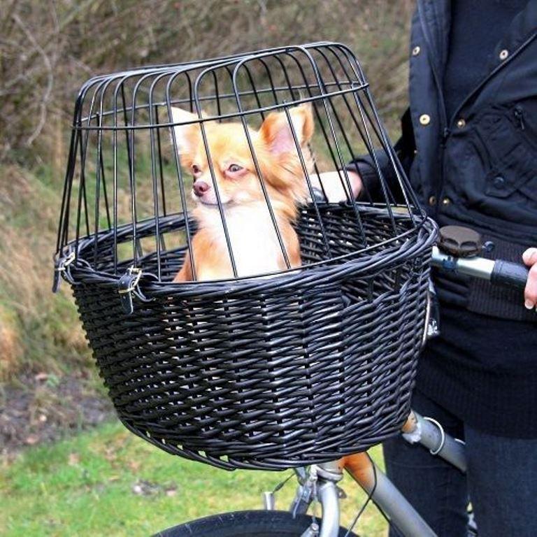 Trasportino Cesta per Piccoli Cani e Gatti da Bici Bicicletta TRIXE Cestino NERO