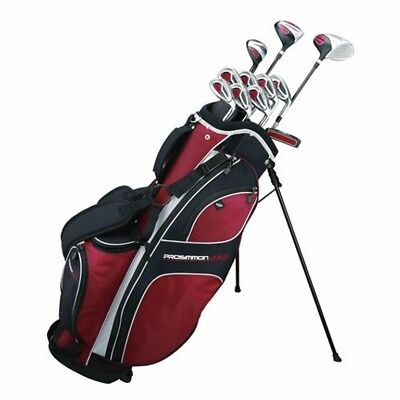 Prosimmon Golf DRK Mens RH GRAPHITE Hybrid Club Set & Stand Bag - Graphite Golf Bag
