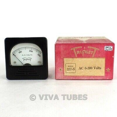 Nos Nib Vintage Triplett Square Model 337-s Ac Volt Panel Meter 0-300 Vac Range