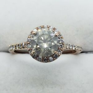 14k Rose Gold Champagne Diamond Ring - Appraised at $9359