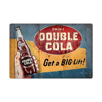 Double Cola Werbung Good Grape Company USA Retro Vintage Sign Blechschild Schild
