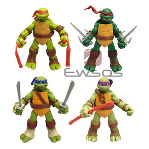 Set of 4 Pc Teenage Mutant Ninja Turtles Classic Collection TMNT Figures toys