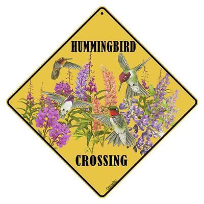 Western Hummingbirds Crossing Sign NEW 12X12 Metal Hummingbird  Rufous  Costa's