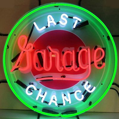 Last Chance Garage Neon Sign with Silkscreen Backing 5LASTX w/ FREE Shipping
