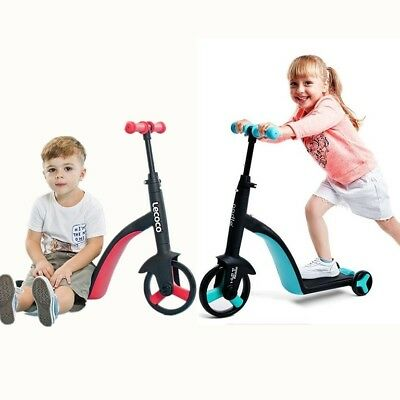 RED/BLUE Children Scooter Tricycle Baby 3 In 1 Balance Bike Ride On Toys Gift (Red Rider Scooter)