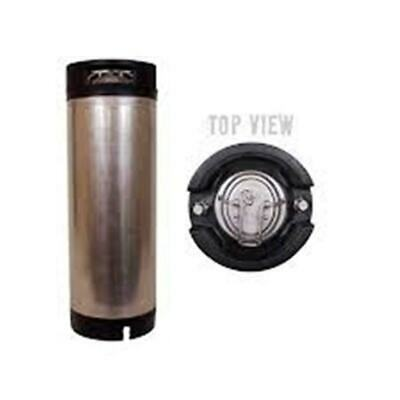 Used 5 Gallon Ball Lock Cornelius Corny Keg With Rubber Handles 5 New O-rings