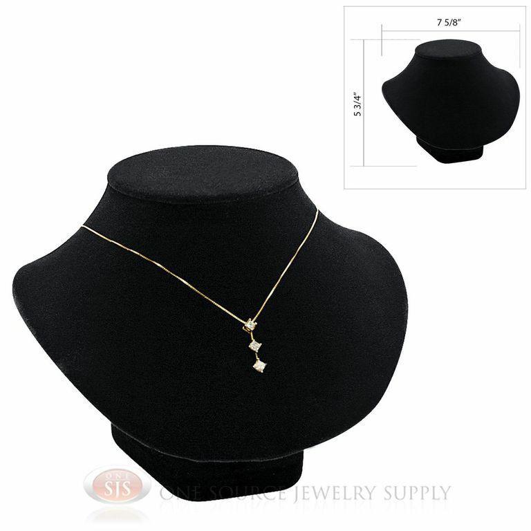 "5 3/4"" Pendant Necklace Black Velvet NeckForm Jewelry Presentation Display Stand"
